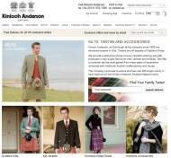 Kinloch Anderson renowned experts in Highland Dress